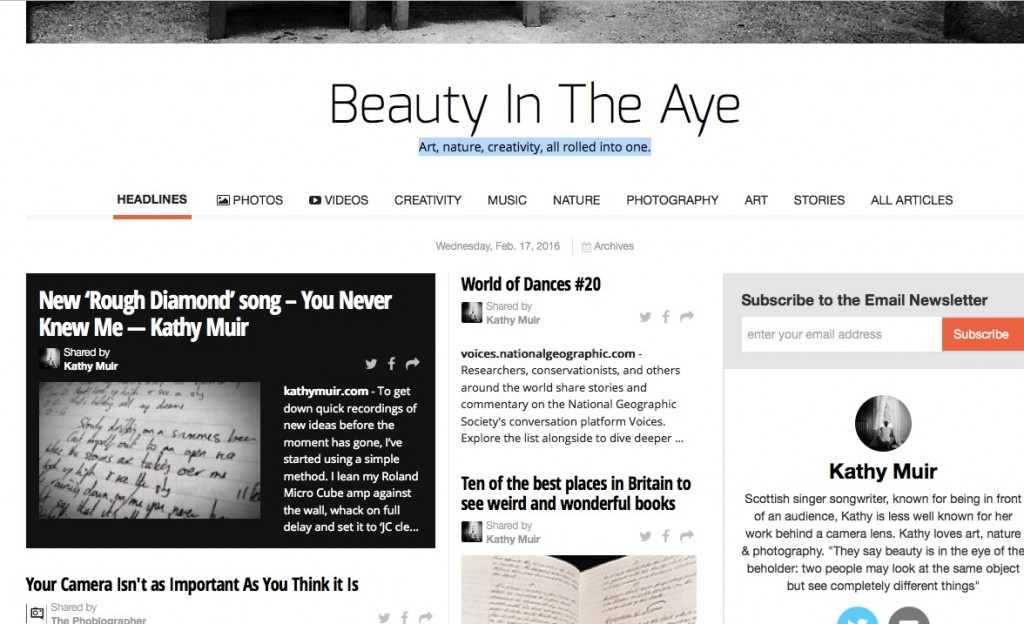 Edition #3 of 'Beauty in The Aye' online newspaper out now