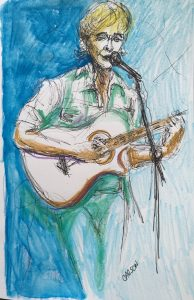 Sketch drawing by Susan Carson