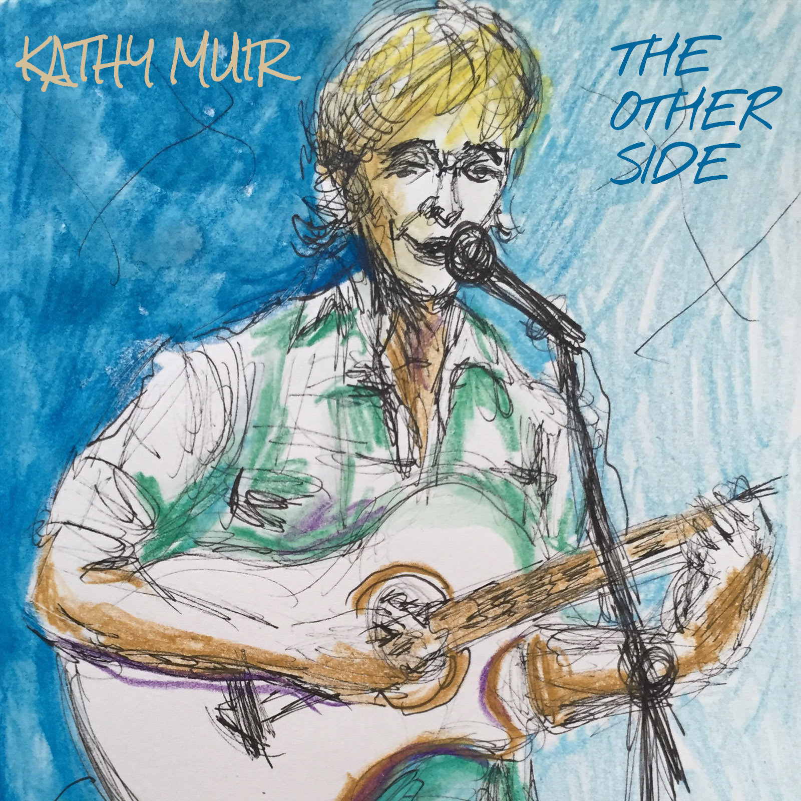 Sketch by Susan Carson, performing The Other Side