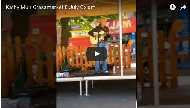 Performing at Oxjam Edinburgh