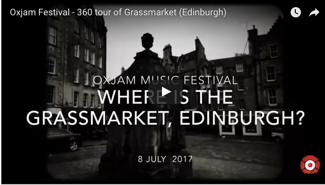 360 tour of the Grassmarket, Edinburgh - Oxjam Festival 8 July, 12.30pm