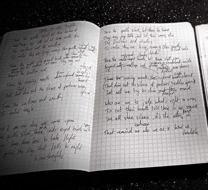 The notebook used to write the poem 'Those'