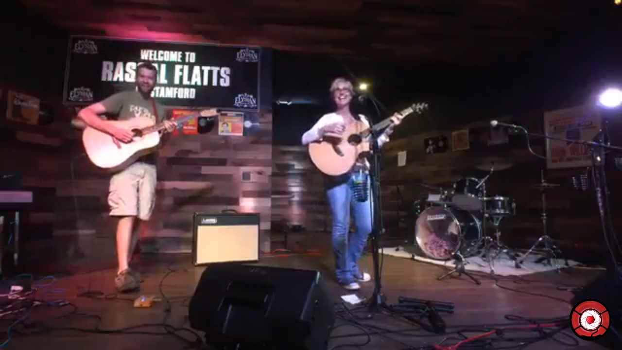 Kathy Muir on stage at Rascal Flatts