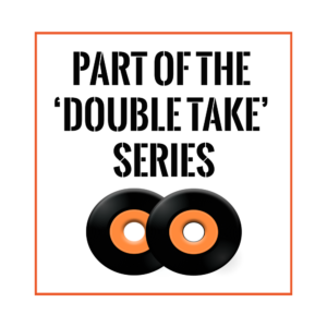 Double Take logo representin songs released in two versions