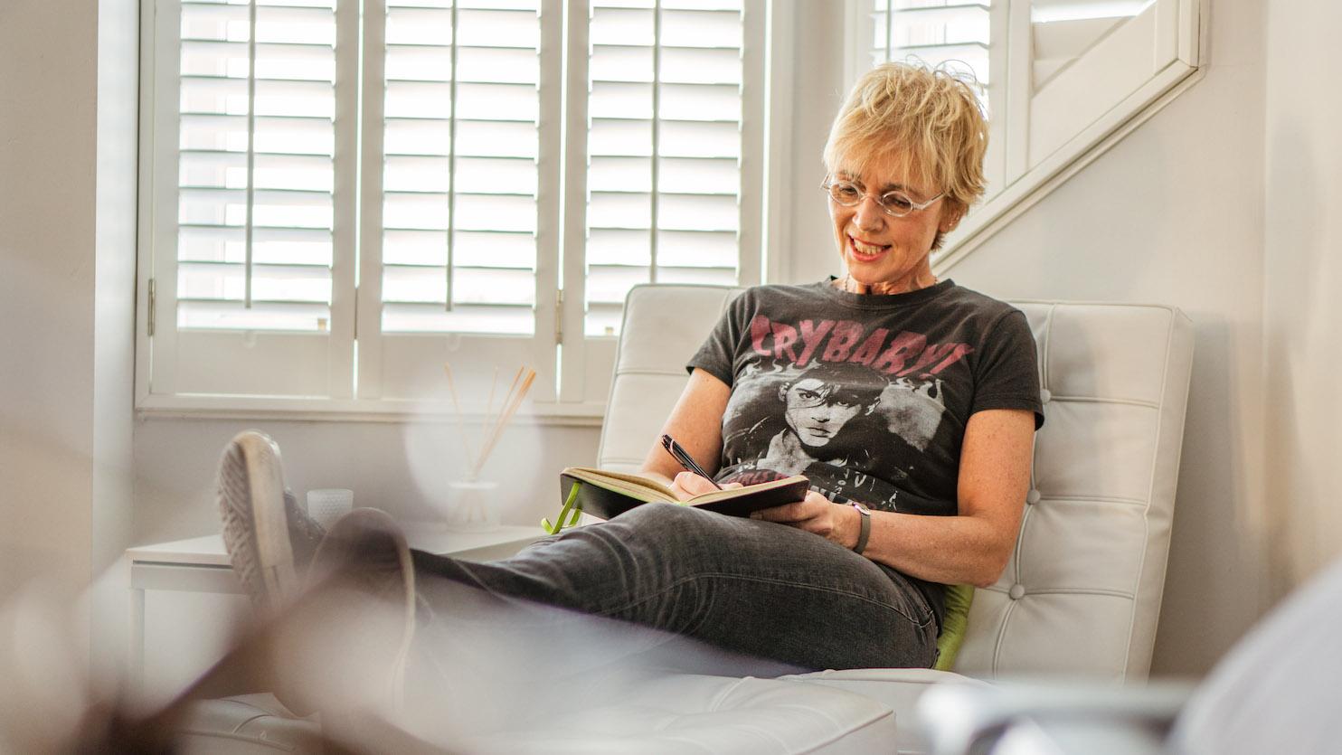 Kathy Muir at home