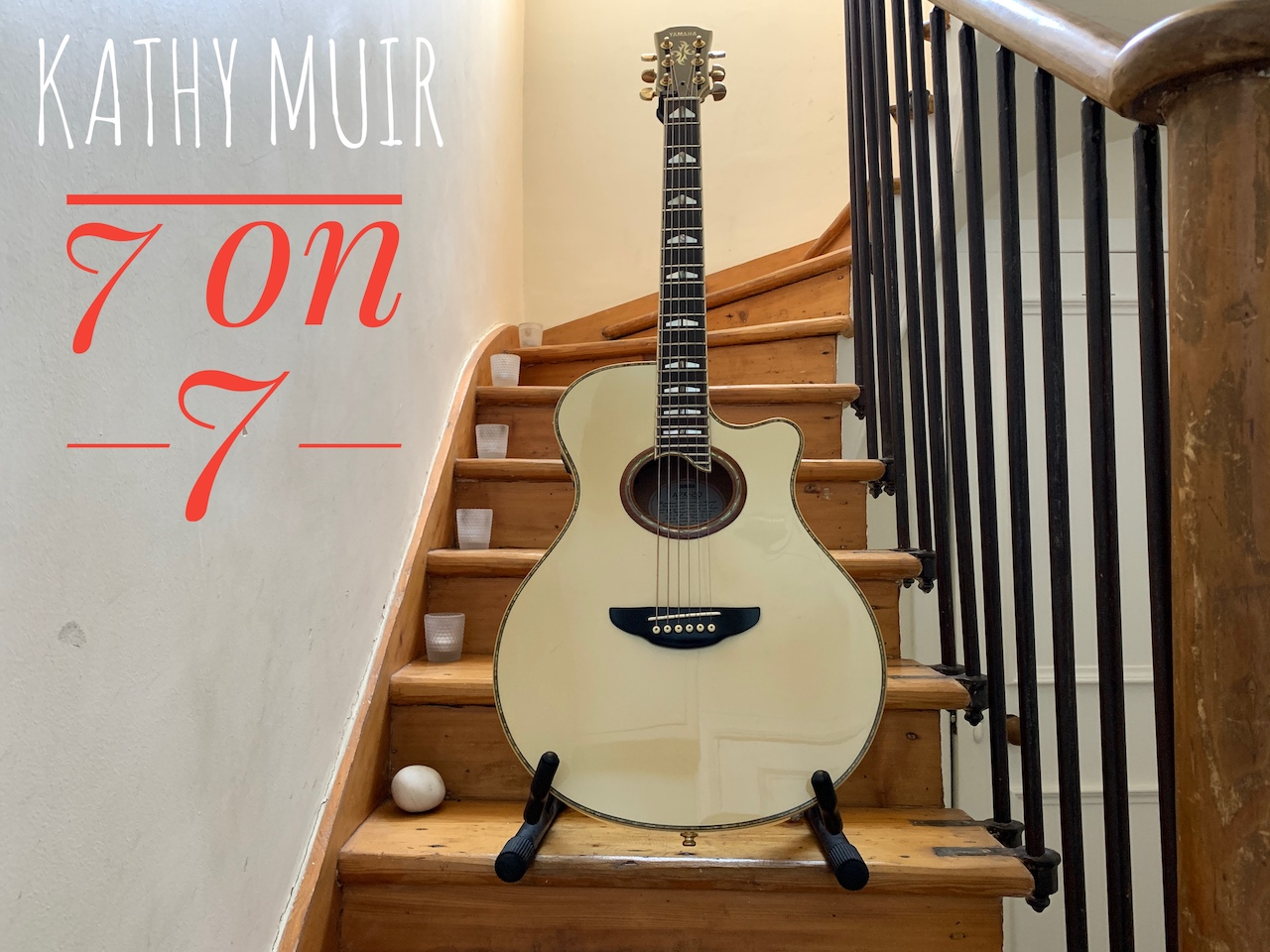 Kathy. Muir 7 on 7 Show taking place on her staircase