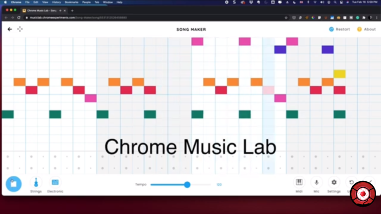Chrome Music Lab for Songwriting